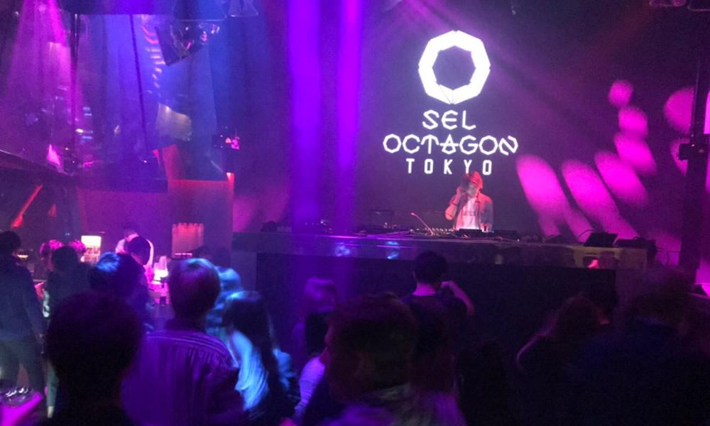 【バーカウンターの横がDJブースとなっている】【六本木 クラブ】 SEL OCTAGON TOKYO セルオクタゴン 東京